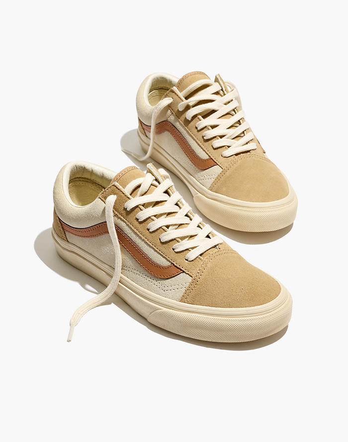 f73fee412a Madewell x Vans® Unisex Old Skool Lace-Up Sneakers in Camel Colorblock