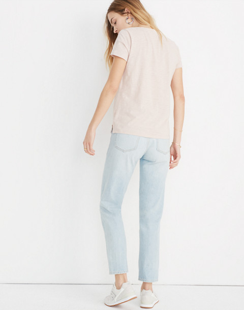Whisper Cotton V-Neck Pocket Tee in ashen silver image 3