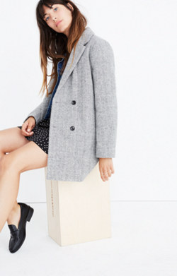 Herringbone Blazer Coat