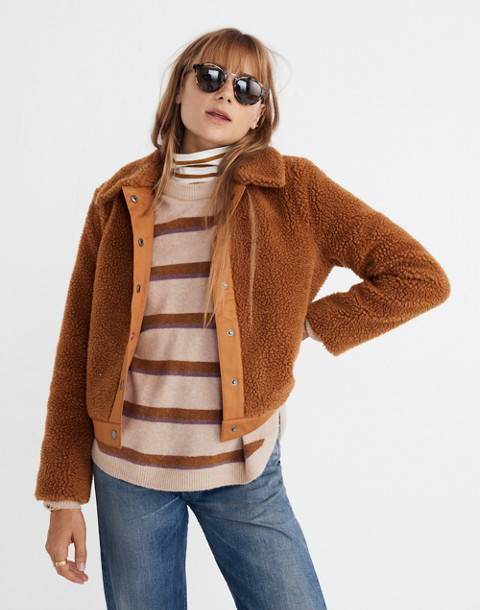 Sherpa Portland Jacket in golden pecan image 2