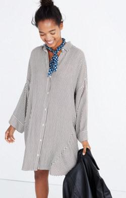 Stripe-Play Shirtdress