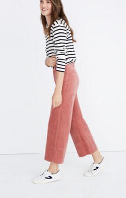 Velveteen Langford Wide-Leg Crop Pants