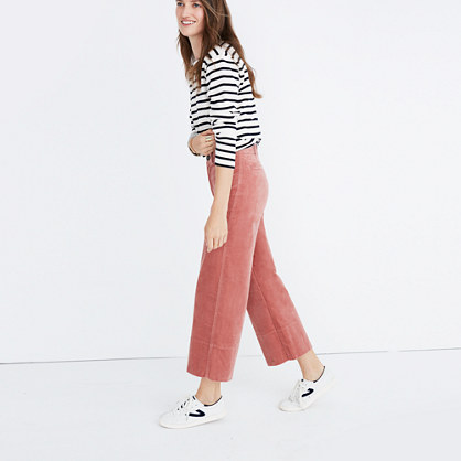 Velveteen Langford Wide-Leg Crop Pants