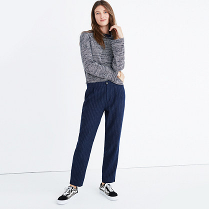 Track Trousers in Pinstripe