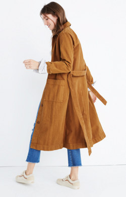 Denim Duster Coat: Garment-Dyed Edition