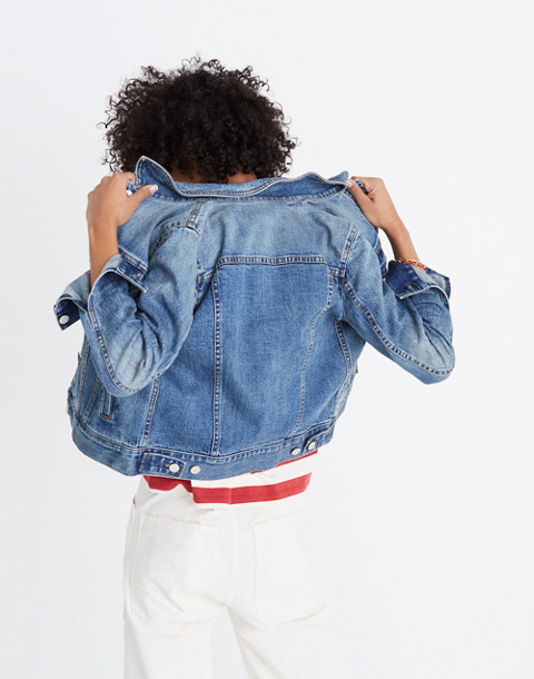 The Shrunken Stretch Jean Jacket in flannery wash image 2