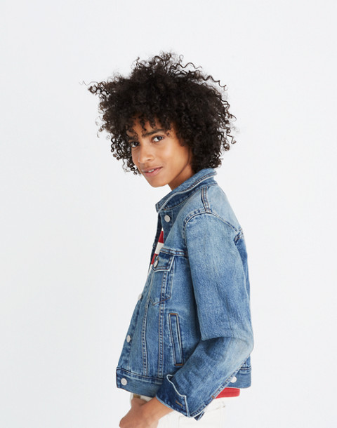The Shrunken Stretch Jean Jacket in flannery wash image 3