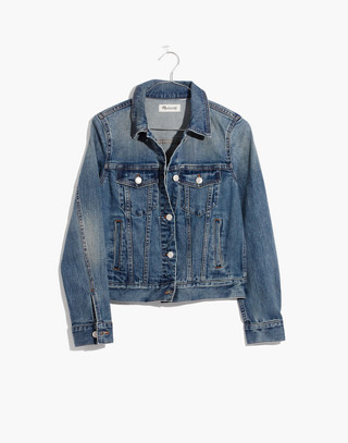 The Shrunken Stretch Jean Jacket in flannery wash image 4