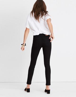 "Short 9"" High-Rise Skinny Jeans in ISKO Stay Black™"