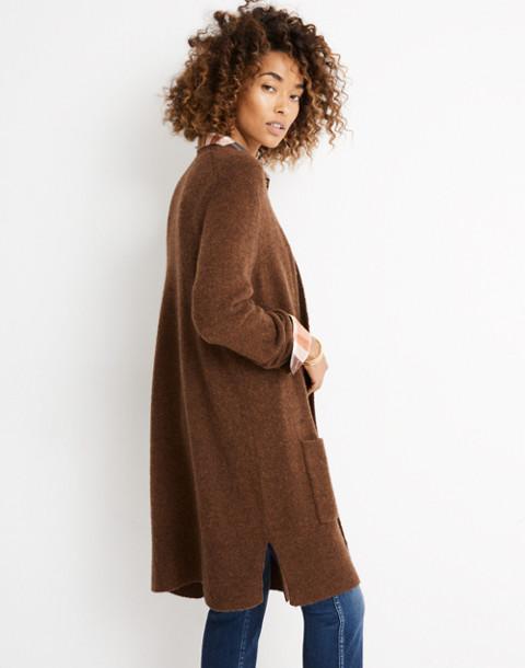 Kent Cardigan Sweater in Coziest Yarn in hthr nutmeg image 2