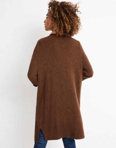 Kent Cardigan Sweater in Coziest Yarn in hthr nutmeg image 3