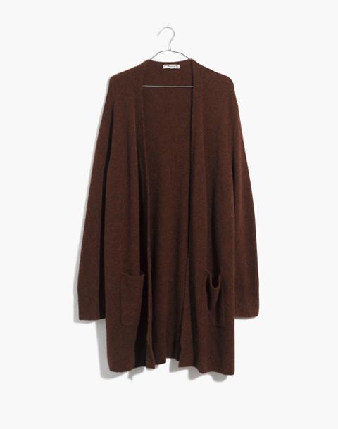 Kent Cardigan Sweater in Coziest Yarn in hthr nutmeg image 4