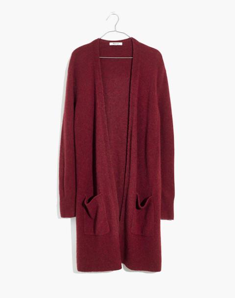 Kent Cardigan Sweater in Coziest Yarn in hthr scarlet image 4
