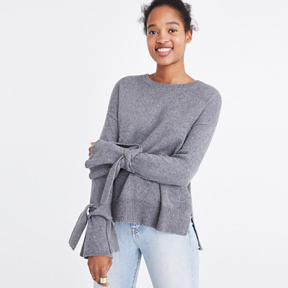 Tie-Cuff Pullover Sweater : pullovers | Madewell
