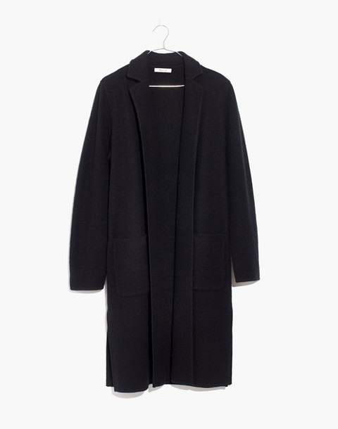 Camden Sweater-Coat in true black image 4