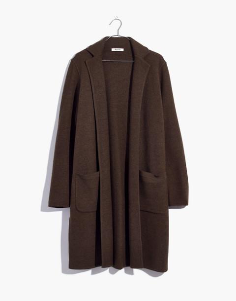 Camden Sweater-Coat in heather elm image 1