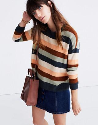 Pullover Sweater in Elmwood Stripe in craftsman blue image 2