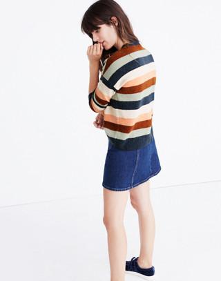Pullover Sweater in Elmwood Stripe in craftsman blue image 3