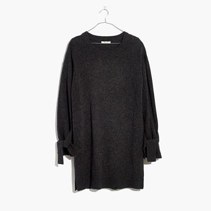 Tie-Cuff Sweater-Dress