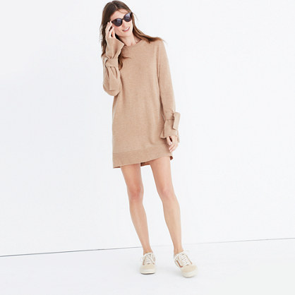 Tie-Cuff Sweater-Dress