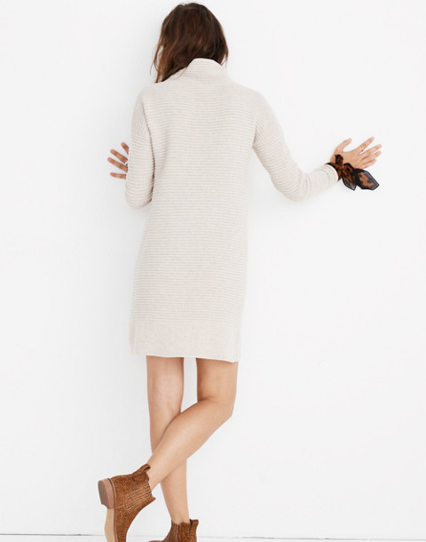 Skyscraper Sweater-Dress in hthr almond image 3