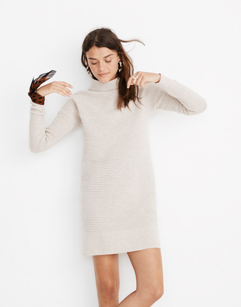 Skyscraper Sweater-Dress in hthr almond image 1