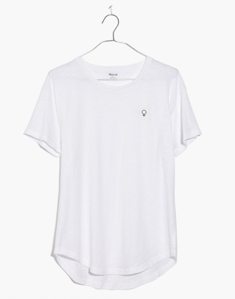 Madewell x Girls Inc. Whisper Cotton Female Symbol Crewneck Tee in optic white image 4