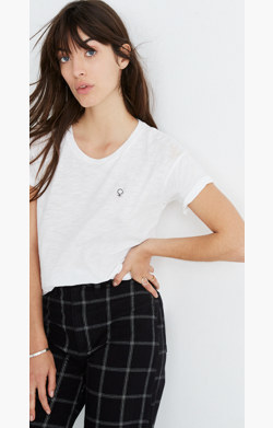 Madewell x Girls Inc. Whisper Cotton Female Crewneck Tee