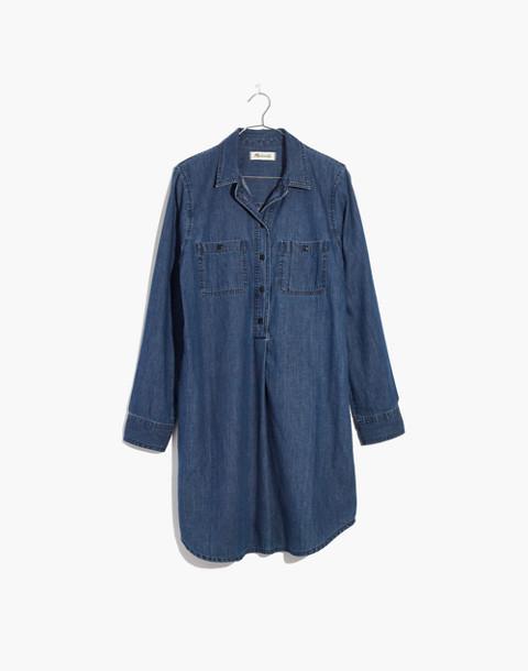 Denim Popover Shirtdress