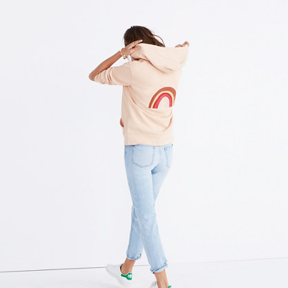 Embroidered Rainbow Hoodie Sweatshirt