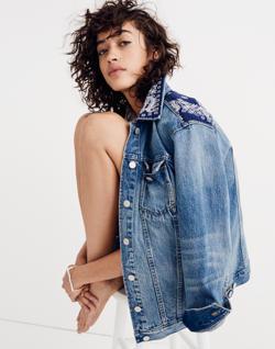 Madewell x B Sides™ Oversized Jean Jacket: Bandana Edition