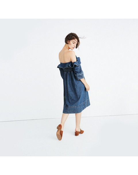 Apiece Apart™ Denim Nueva Mar Off-the-Shoulder Dress