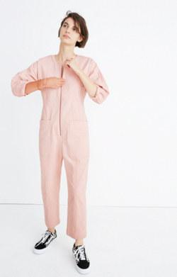 Apiece Apart™ Fit Flare Flame Thrower Pink Denim Jumpsuit