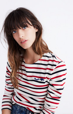 Madewell x Armor-Lux® Embroidered Winking Eye Striped Tee