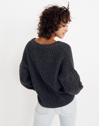Pleat-Sleeve Pullover Sweater in ashland slate image 2