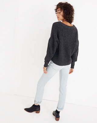Pleat-Sleeve Pullover Sweater in ashland slate image 3
