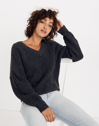 Pleat-Sleeve Pullover Sweater in ashland slate image 1