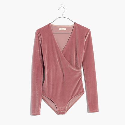 Velvet Wrap Bodysuit