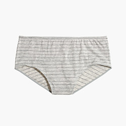 Cotton-Modal® High-Waist Bikini in Stripe