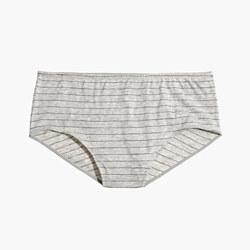 Cotton-Modal® High-Waist Bikini in Stripe