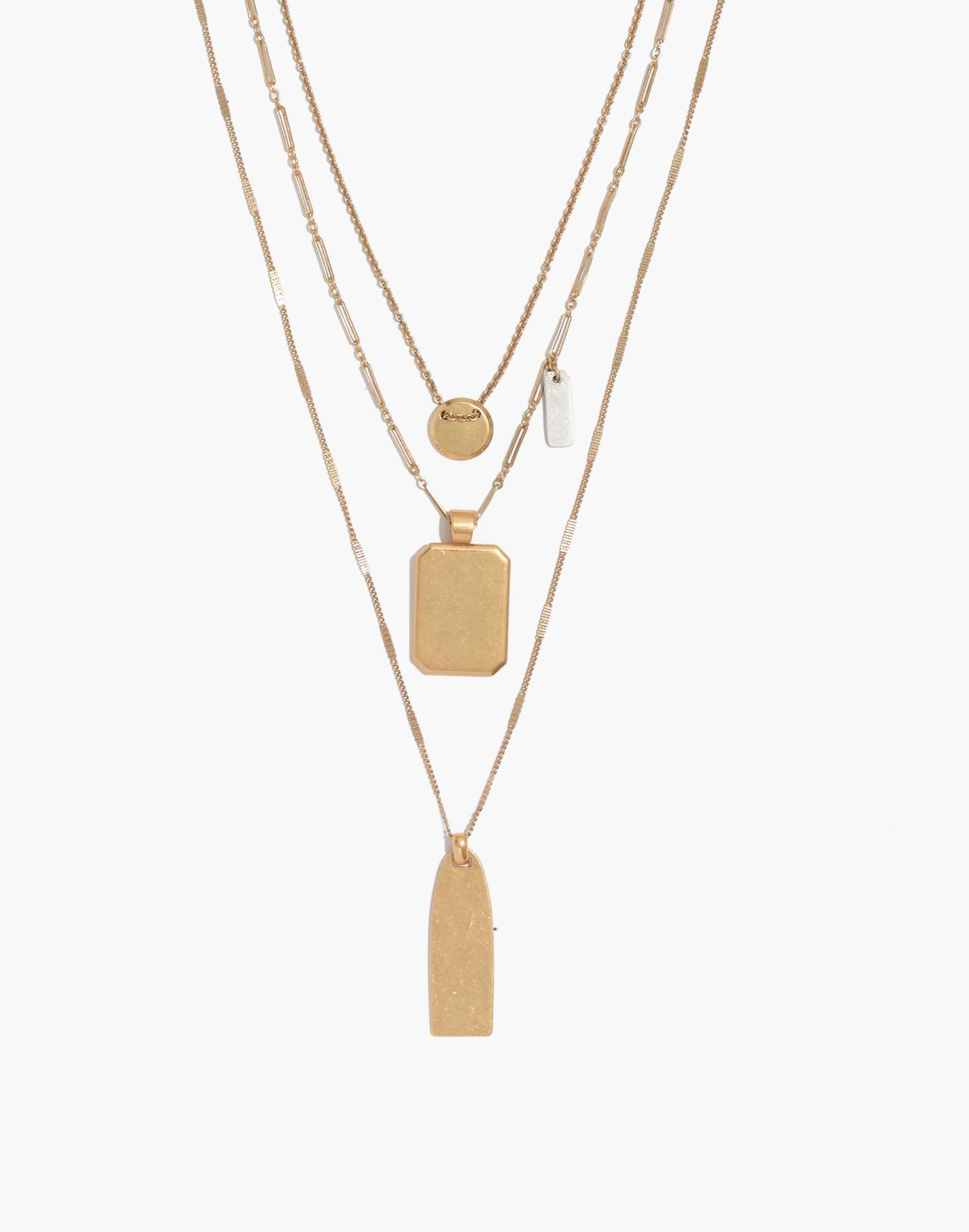 Treasure Pendant Necklace Set in mixed metal image 1