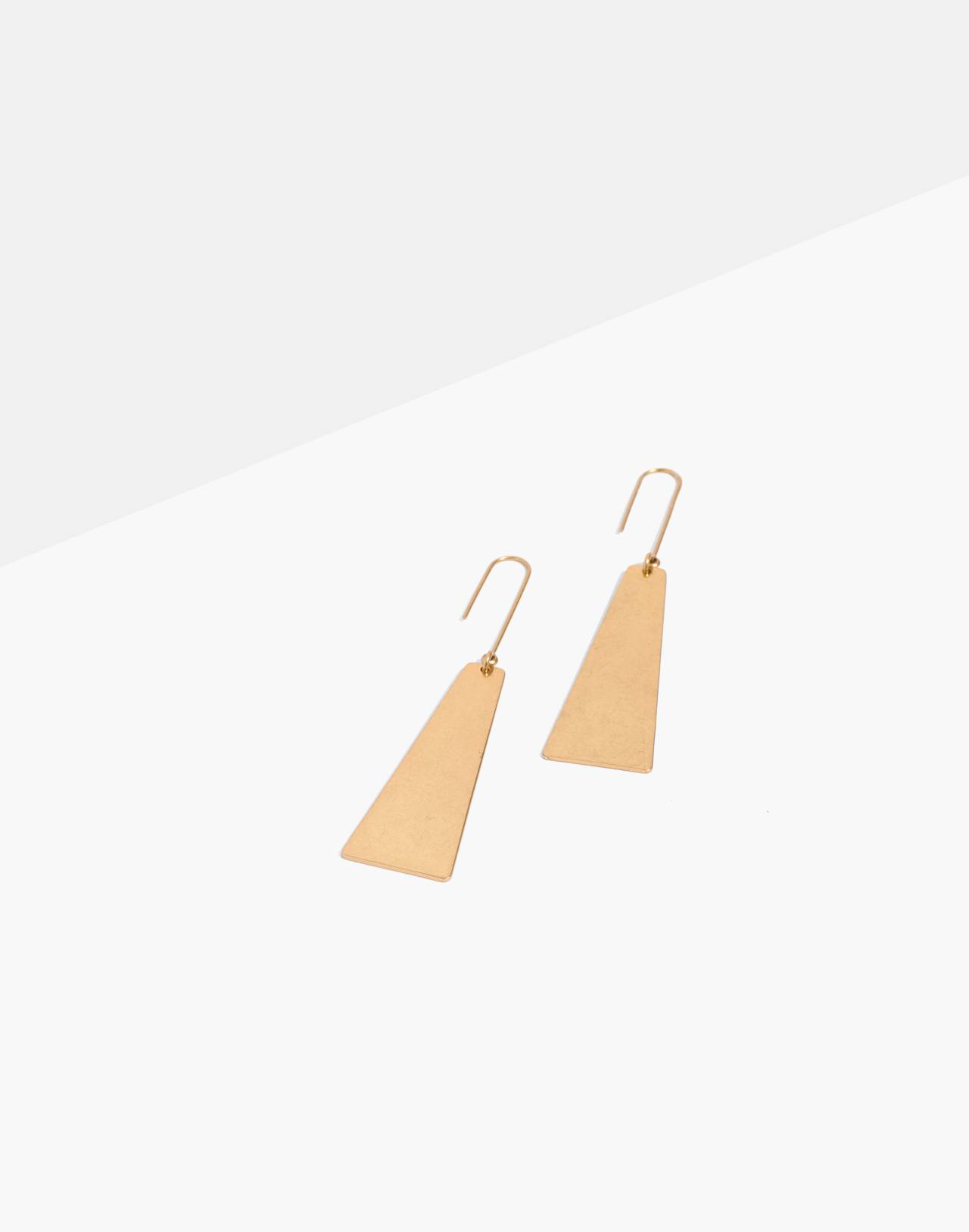 Petaldrop Earrings in gold ox image 1