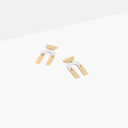 Modernism Half-Drop Earrings