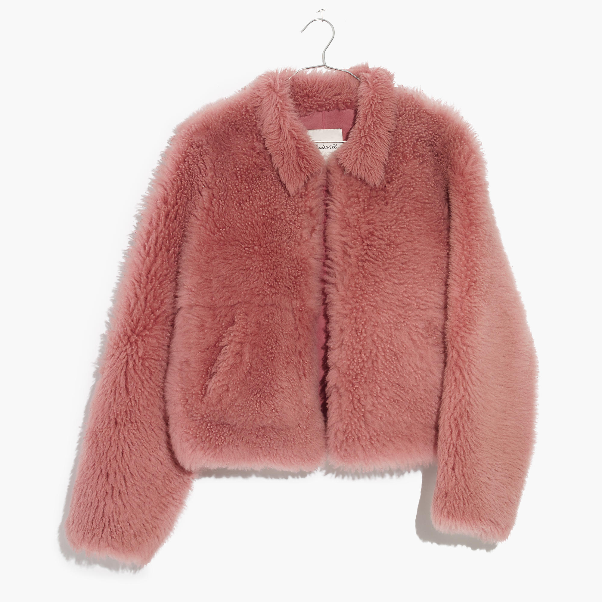 Pink Mongolian Shearling Jacket : shopmadewell leather jackets ...