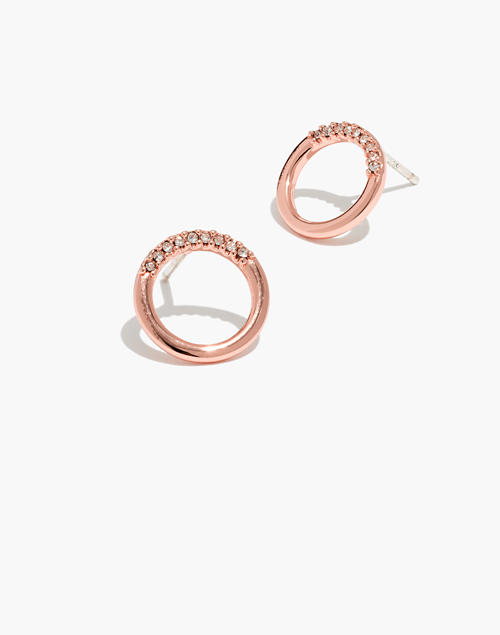 ea468d00a Pavé Circle Stud Earrings in rose gold ...