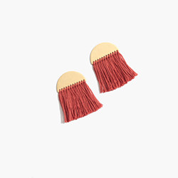 Half-Moon Fringe Earrings