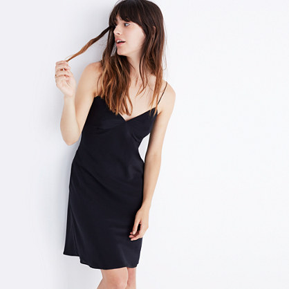 Silk Tie-Back Slip Dress