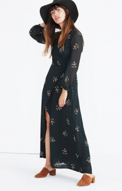 Nightflower Maxi Dress in Wild Botanic