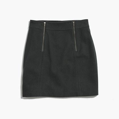 Uptown Zip Mini Skirt