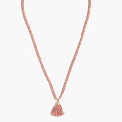 Adjustable Beaded Tassel Necklace